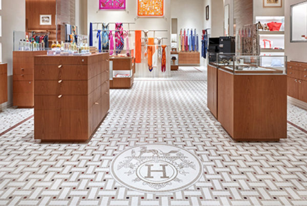 Hermes negozio pavimenti marmo